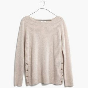 Madewell Button Side Soft Sweater